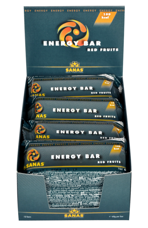 Sanas Energy bar - Red Fruits - 1 kasse 12 bar